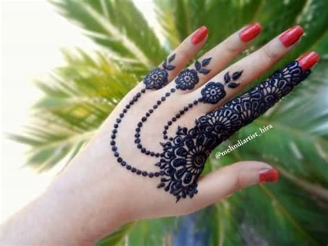 easy simple jewellery ornamental henna mehndi designs