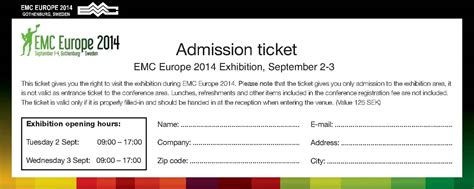 admission ticket templates word excel  formats