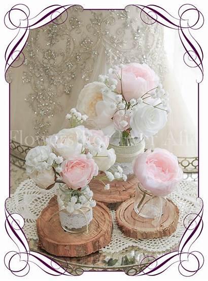 Table Blush Pink Decoration Peony Pastel Flowers