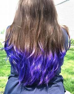 Dip Dye Hair Black Purple 2015 2016 Fashion Trends 2016 2017