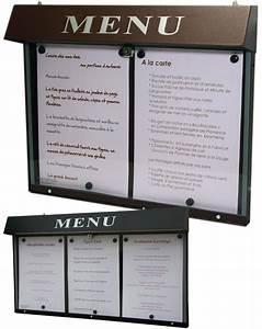Protege Menu Restaurant : porte menu porte menus lumineux pour restaurant sur pied et muraux affichage menus pour ~ Teatrodelosmanantiales.com Idées de Décoration