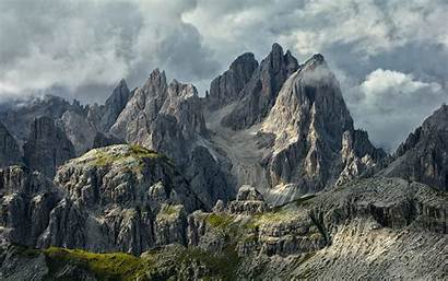 Alps Dolomites Italy Mountains Summer Landscape Nature