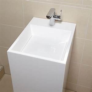 Waschbecken 80 X 40 : camargue waschtisch quadro 52 x 40 x 88 cm mineralguss wei bauhaus ~ Bigdaddyawards.com Haus und Dekorationen