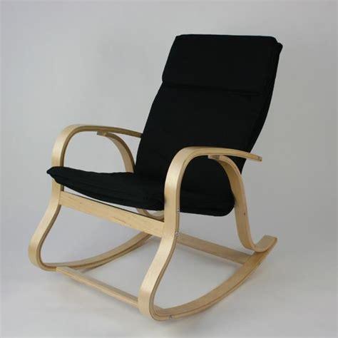 chaise à bascule pas cher rocking chair fauteuil à bascule relaxant noir achat