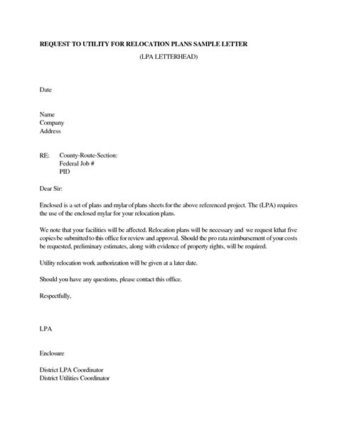 relocation cover letter relocation cover letter sle best letter sle 24264