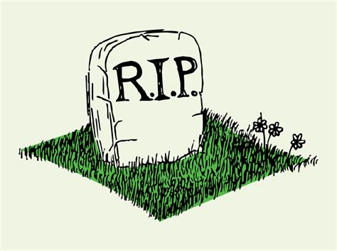 Cartoon Of Gravestone