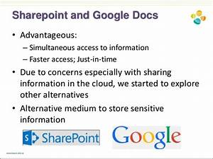 Working together using social media tools enterprise for Google docs sharepoint