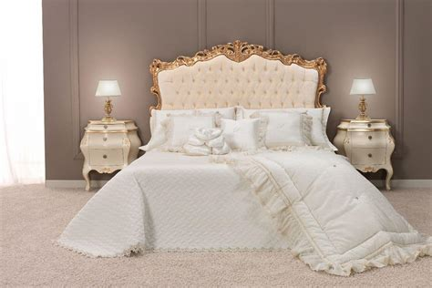 classic double bed  upholstered headboard tufted
