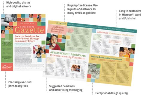 Microsoft Publisher Templates Free by Layoutready Template Features Benefits