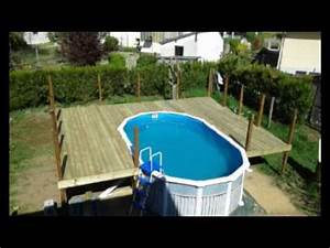 terrasse piscine bilou58 youtube With terrasse autour d une piscine