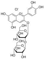 Cyanidin 3-sophoroside chloride analytical standard