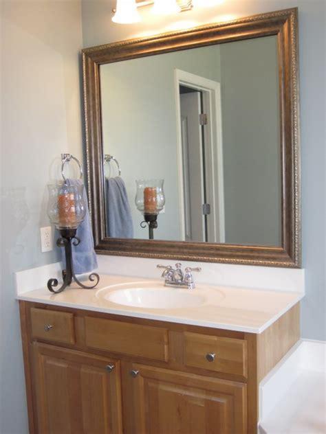 frame existing bathroom mirrors sondra lyn  home
