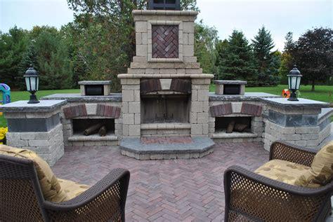 unilock fireplace cost unilock tuscany fireplace outdoor patios pavers