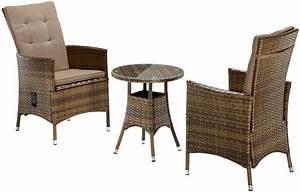 Polyrattan Tisch Rund : gartengruppe essgruppe balkonm belset polyrattan tisch rund braun 7150484 ebay ~ Orissabook.com Haus und Dekorationen