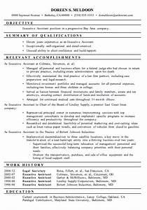 resume sample executive assistant With executive assistant resume samples