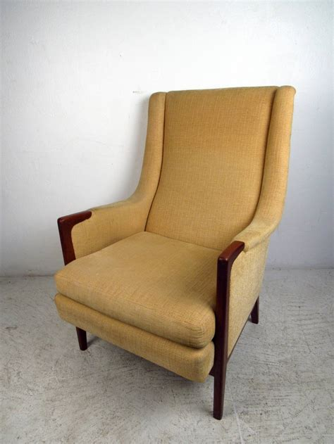 mid century modern high back lounge chair for sale at 1stdibs