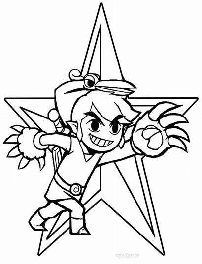 Zelda Coloring Pages Legend Link Printable Wind
