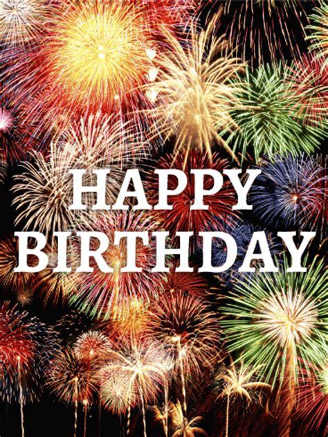big celebration birthday fireworks card birthday