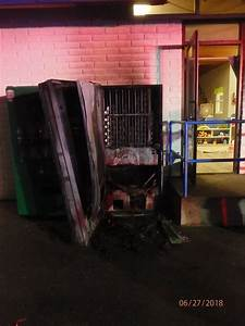 YMCA Vending Machine Completly Burned After It Was ...
