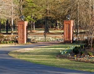 Brick Gate Entrance with Columns