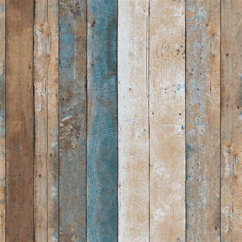 vintage wood wallpaper rolls turquoise bluesandbrown