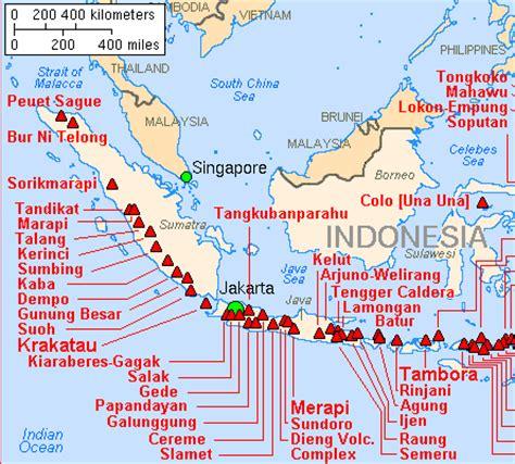 indonesia map volcanoes