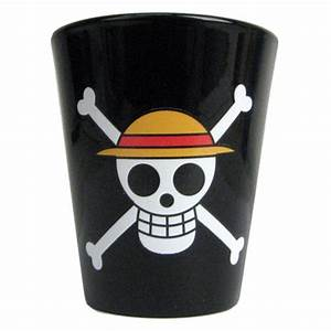One Piece Straw Hat Pirates Jolly Roger Shot Glass ...