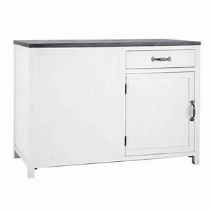 Meuble Bas Cuisine 120 Cm : meuble bas de cuisine ouverture gauche en bois recycl ~ Dode.kayakingforconservation.com Idées de Décoration