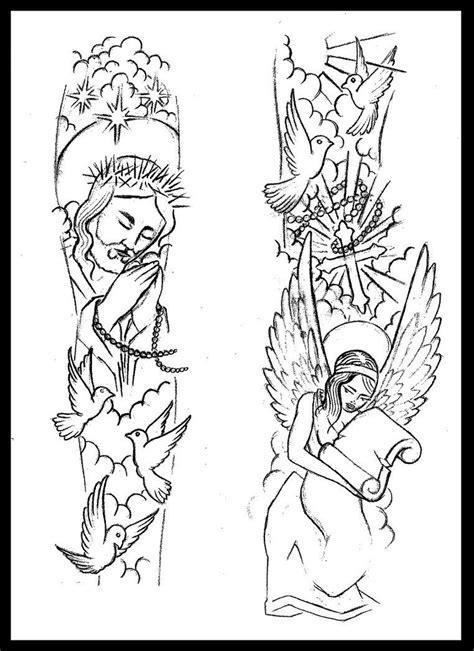 Religious sleeve tattoo design by thirteen7s | tattoos