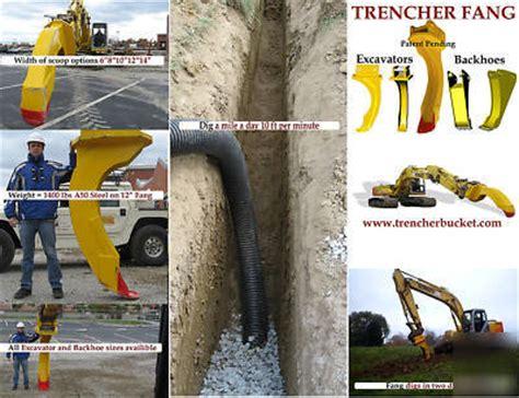 backhoe trenching bucket trencher fang mini excavator