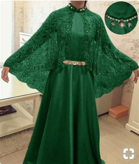 baju gamis hijau botol khazanah islam