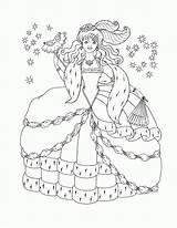 Coloring Disney Princess Winter Printable Popular sketch template