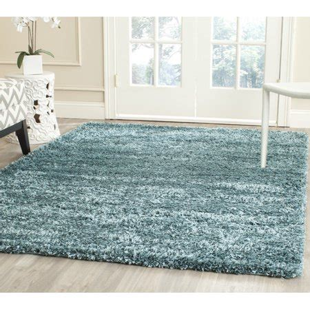 safavieh new york safavieh new york shag turquoise solid area rug walmart
