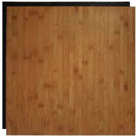 Vinyl Flooring Underlayment Basement by Place N Go Bamboo 18 5 In X 18 5 In Interlocking