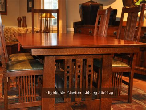 expandable dining table plans stickley mission craftsman dining room wichita by