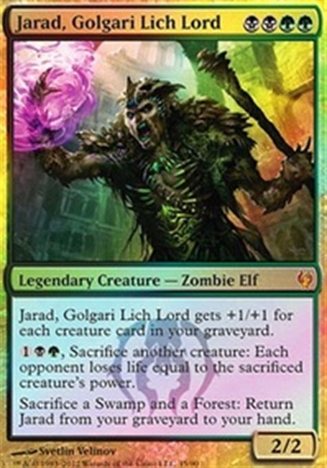 mtg dredge deck tappedout touched by a lich lord 1 kill combo modern mtg deck
