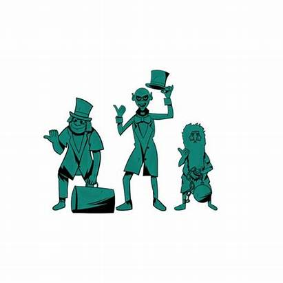 Haunted Ghosts Hitchhiking Mansion Template Clip Clipart