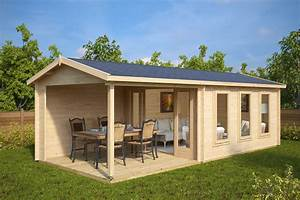 garden summer house with veranda eva e 12m2 44mm 3 x 7 With katzennetz balkon mit small garden sheds uk