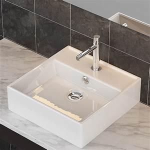 Waschbecken Auf Tisch : keramik waschbecken tisch wandmontage waschschale design waschplatz top a73 ebay ~ Sanjose-hotels-ca.com Haus und Dekorationen