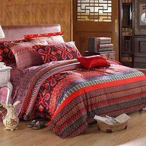 Red, Brown, And, Blue, Colorful, Tribal, Pattern, Gypsy, Themed