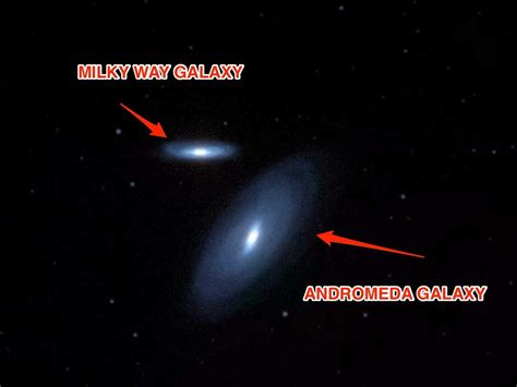 Collision Course With The Andromeda Galaxy