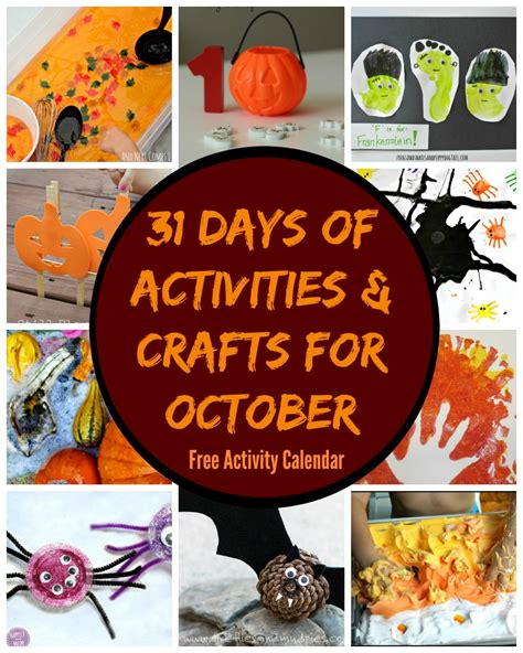 31 days of october crafts amp activities free activity 113 | fall halloween october crafts activites free lesson plan