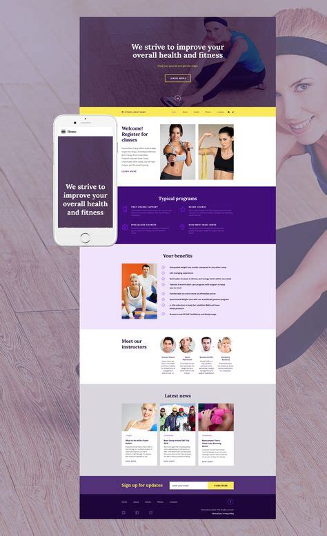 fitness boot camp website template  images website