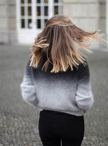 Sweater: ombre, fluffy, h&m, fuzzy sweater, ombre sweater ...