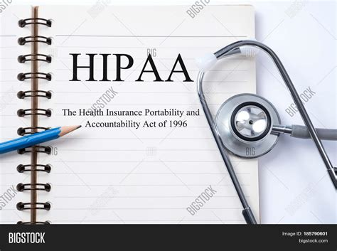 Under the law, health care plans and health care providers must limit who can see your health records. Notebook and pencil with HIPAA (The Health Insurance Portability and Accountability Act of 1996 ...
