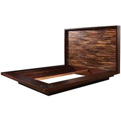 devon reclaimed wood queen platform bed frame zin home