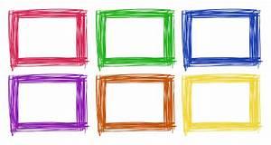 Frame design in six color Vector | Free Download