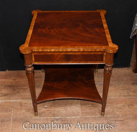 mahogany cocktail table pair regency mahogany side tables cocktail table 3946