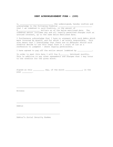 iou contract form 25 images of iou contract template geldfritz net