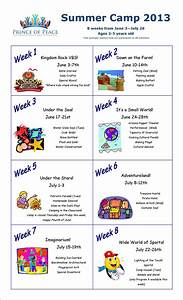 Summer Camp Calendar 2013 I Love This Idea To Devote A